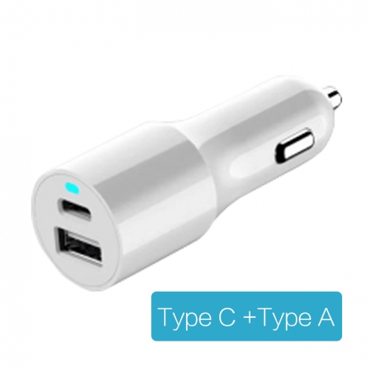 CC-C350 Type-C and Type A dual ports car charger 1