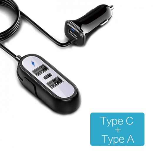 CC-C418 Type C and Type A 5.8A four output ports car charger 1