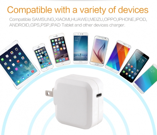TC-KPD18W Type C PD 3.0+QC3.0 USB quick charger 3