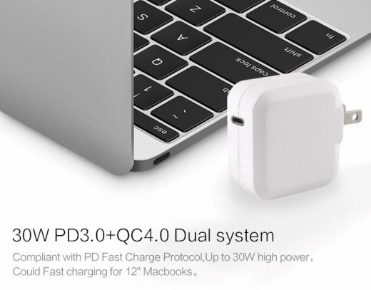 TC-KPD30W USB-C PD 3.0+QC3.0 USB fast charger 2