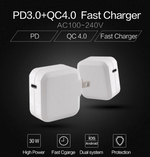 TC-KPD30W USB-C PD 3.0+QC3.0 USB fast charger 3