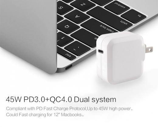 TC-KPD45W USB-C PD 3.0+QC3.0 USB fast charger 3