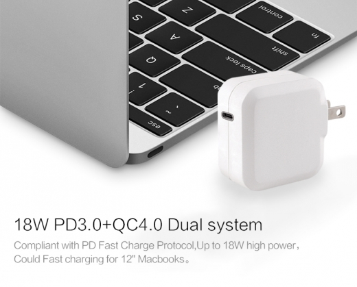 TC-KPD18W Type C PD 3.0+QC3.0 USB quick charger 2
